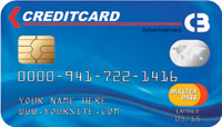 Credit Card Drop card blue front