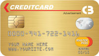 Credit Card Drop card front