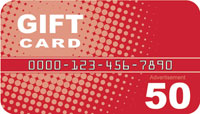 Red Gift Card Drop card front