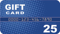 Blue Gift Card Drop card front