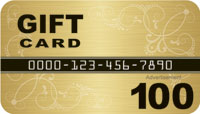 Gold $100 Gift Card Drop card front
