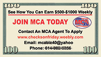 MCA business card sample