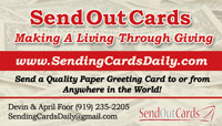 Sen out cards business card sample