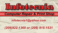 Computer repair business card sample