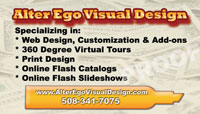 Graphics design business card sample
