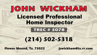 Home Inspector business card sample