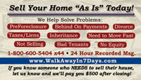 Sell your home business card sample