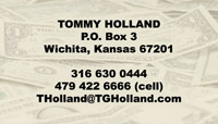Dollar bill business card sample