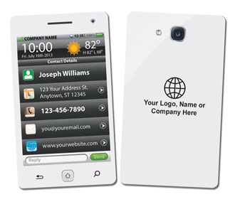Smart phone iphone style business cards white smart phone business card reheart Gallery